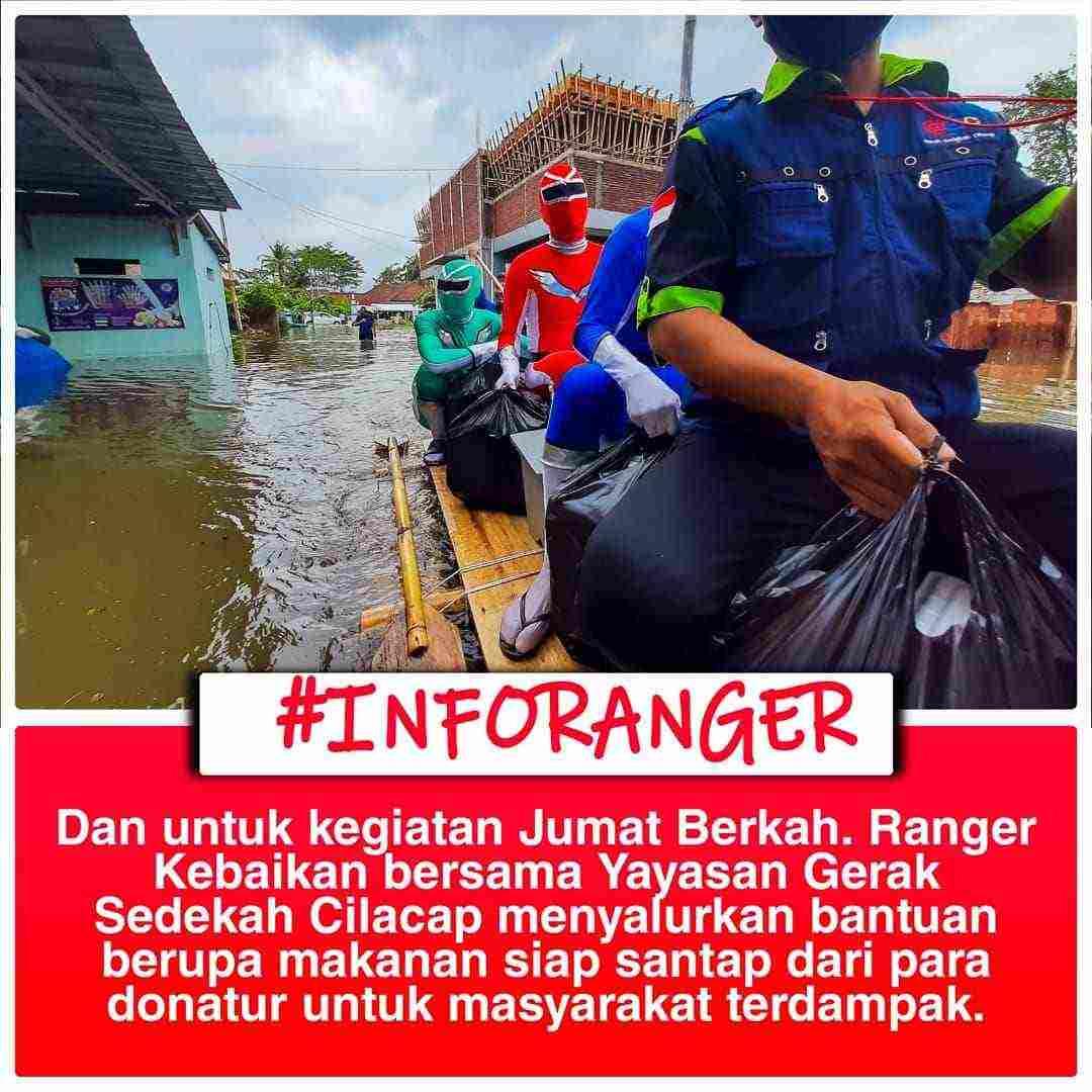 Ranger Kebaikan Bantu Korban Banjir di Kroya Cilacap