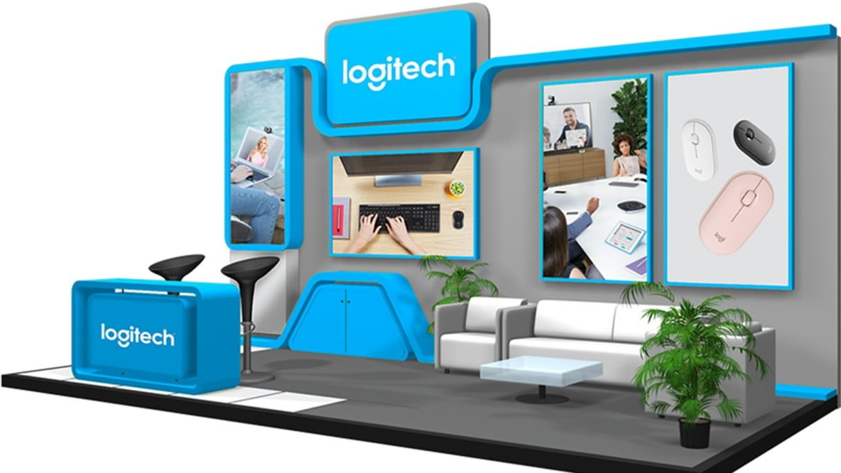 Booth Logitech Expo Datascrip