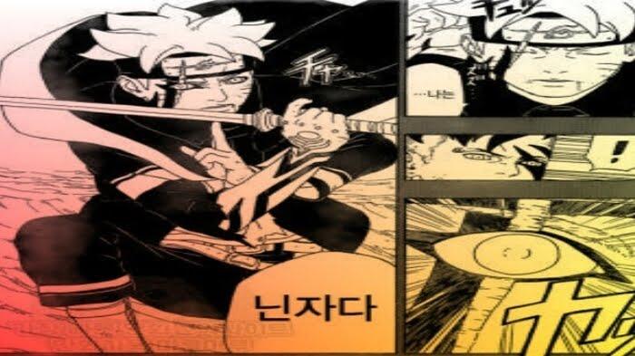 Boruto aktifkan Jougan saat lawan Kawaki
