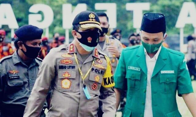 Irjen Polisi Ahmad Luthfi dengan Ketua PW GP Ansor Jateng