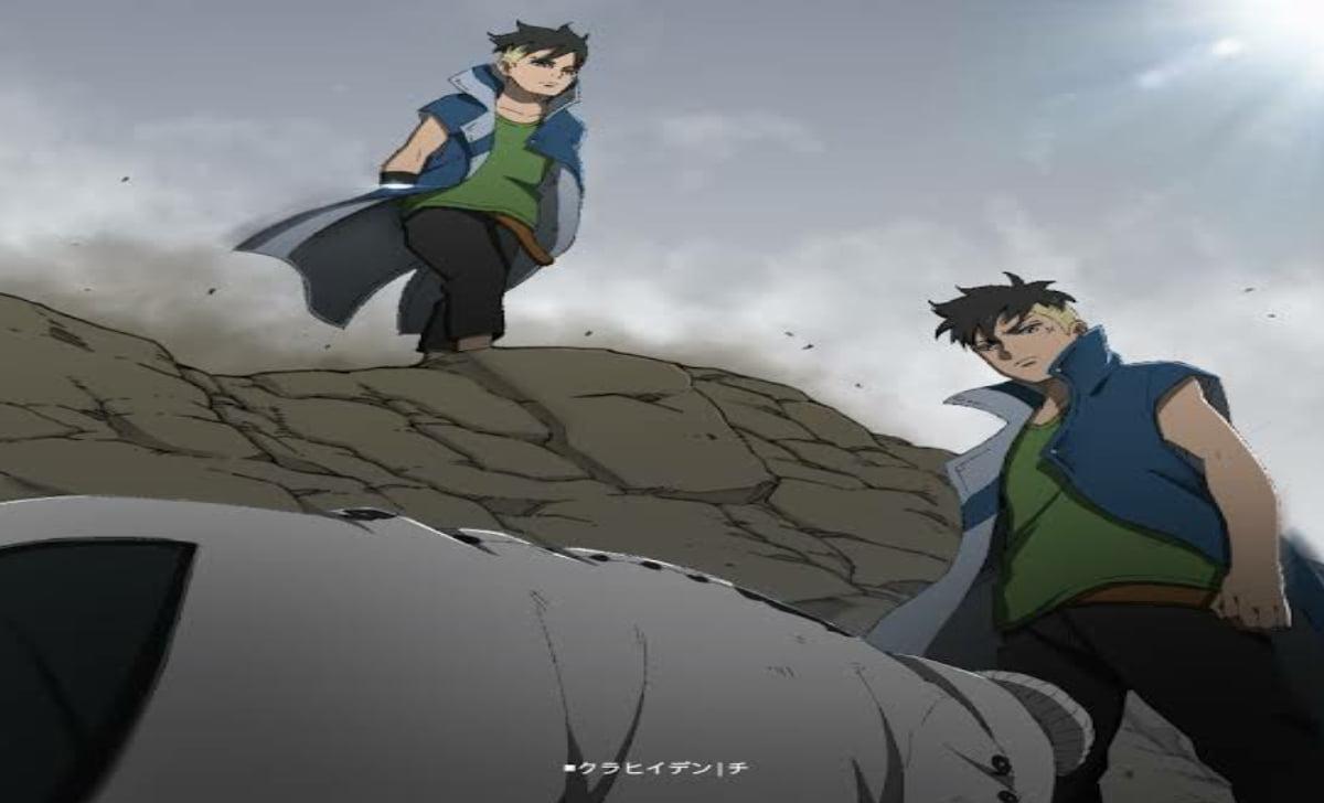 Kawaki Muncul Dihadapan Isshiki dengan Kage Bunshin