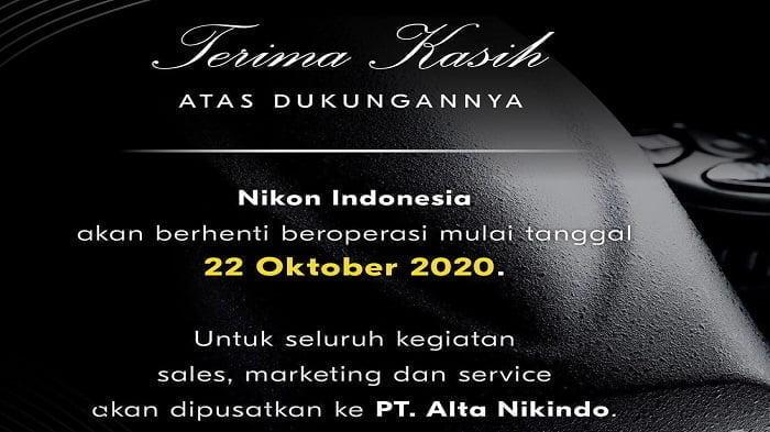 Nikon Indonesia Tutup