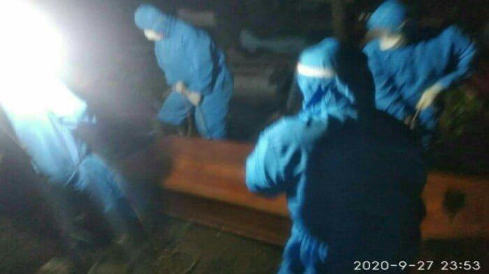 Pemakaman Jenazah Positif Covid 19 di Cilacap