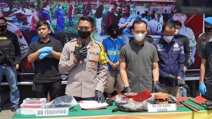Polres Semarang tunjukan Barang Bukti Pencurian Kabel Telkom