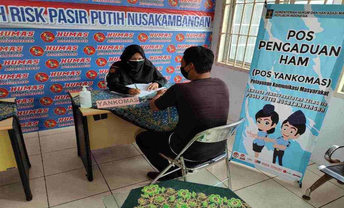Pos YANKOMAS di Lapas High Risk Pasir Putih Nusakambangan