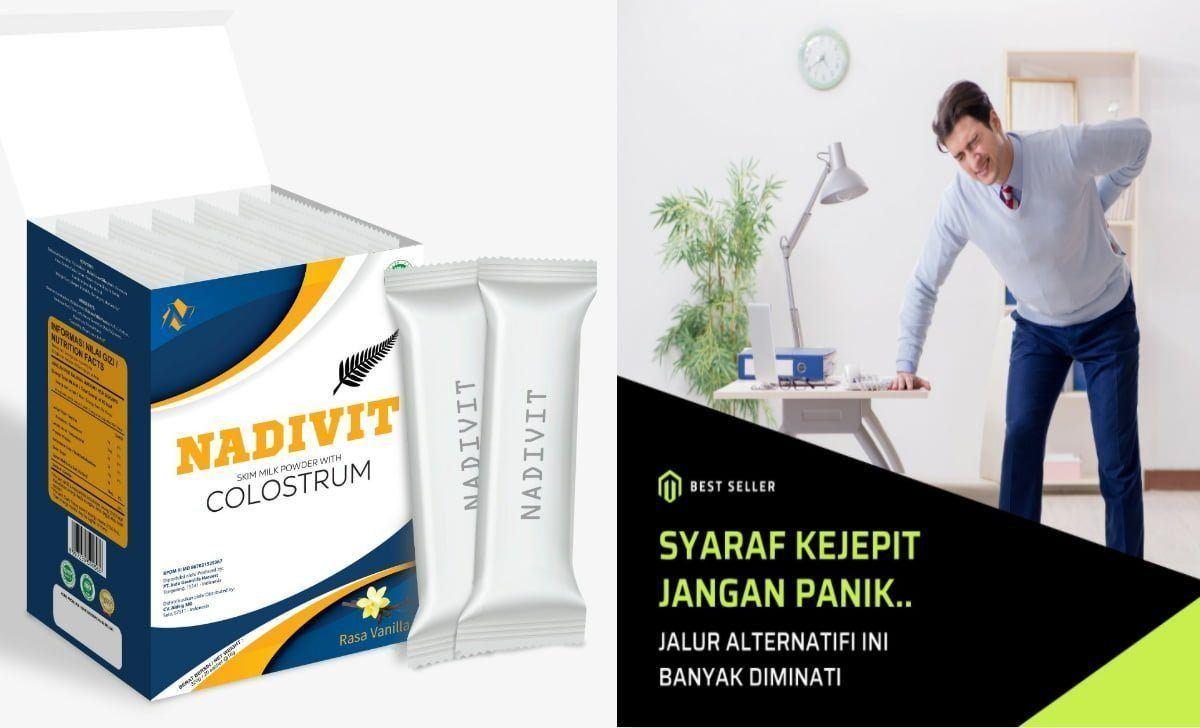 Produk Susu Nadivit Colostrum Peyembuhan Syaraf Kejepit