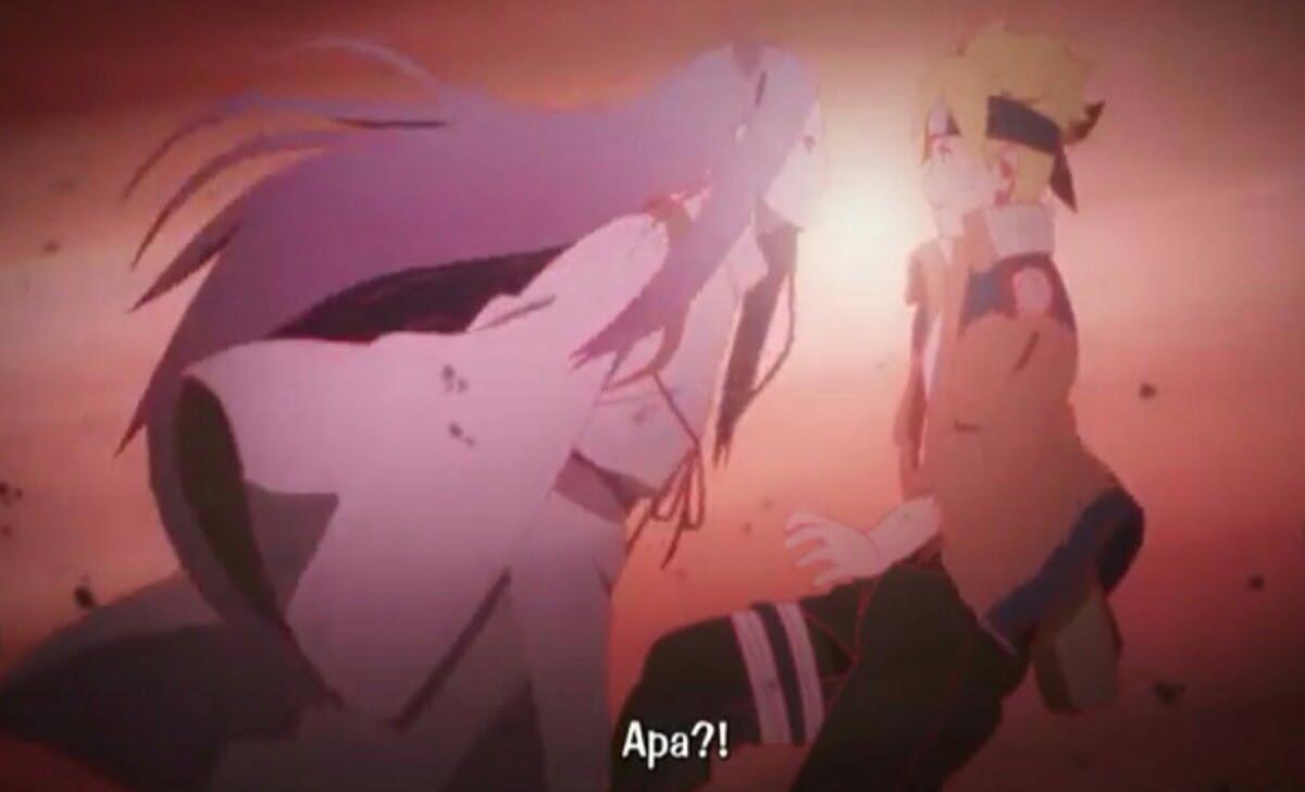 Scene Anime episode 65 Momoshiki meramal Boruto