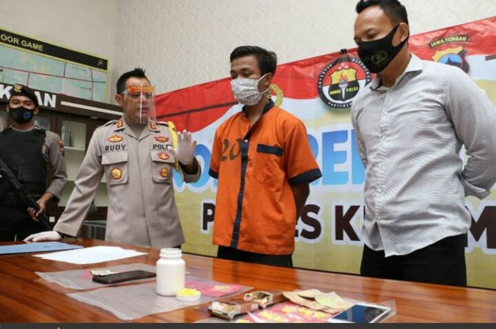 Bos Muda Penjual Pil Koplo Ditangkap Polres Kebumen