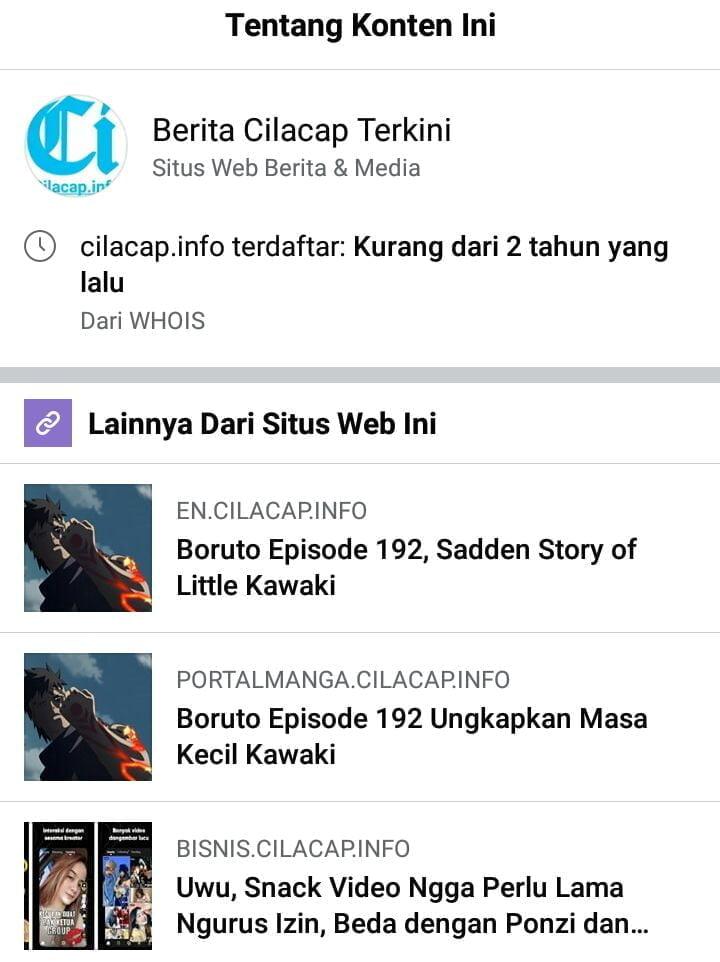 About Cilacap.info di Facebook