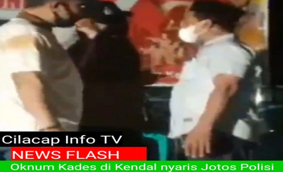 Tangkapan Layar Video Viral Kades di Kendal marah marah pada polisi