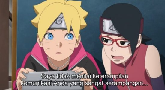 Tangkapan Layar Video Youtube Boruto Episode 182