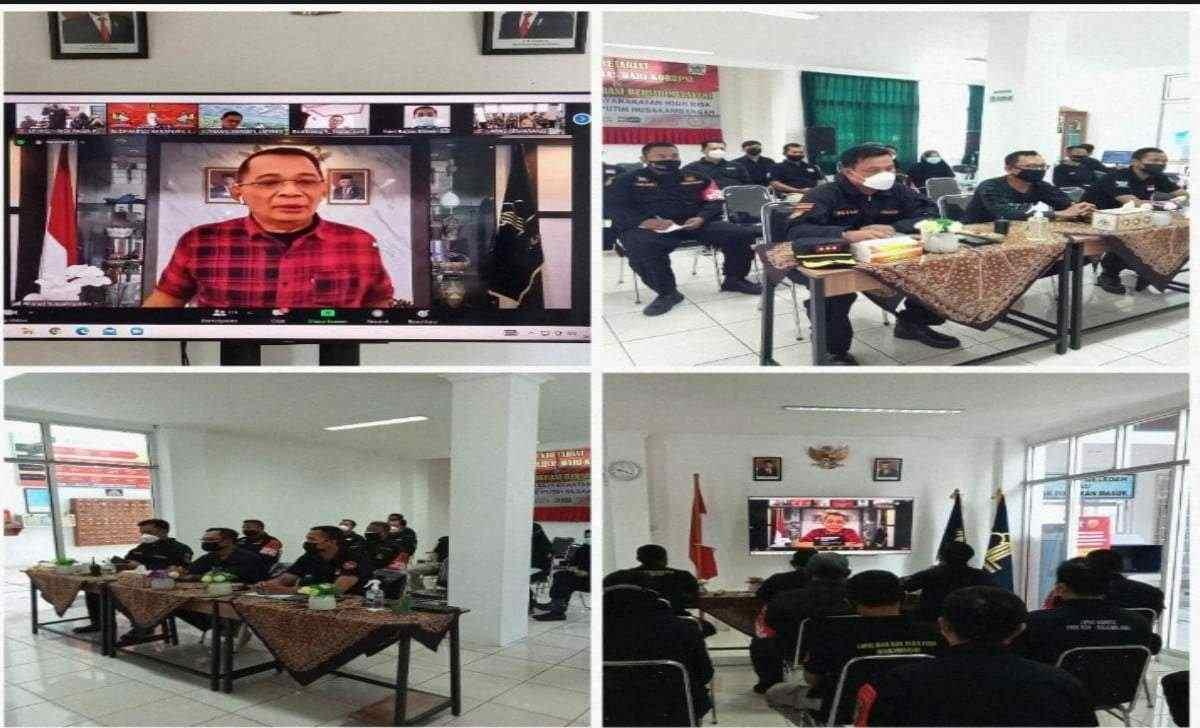 Zoom Meeting Zona Integritas Menuju Wilayah Bebas dari Korupsi