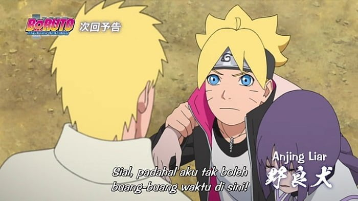 boruto help sumire after fight with kawaki