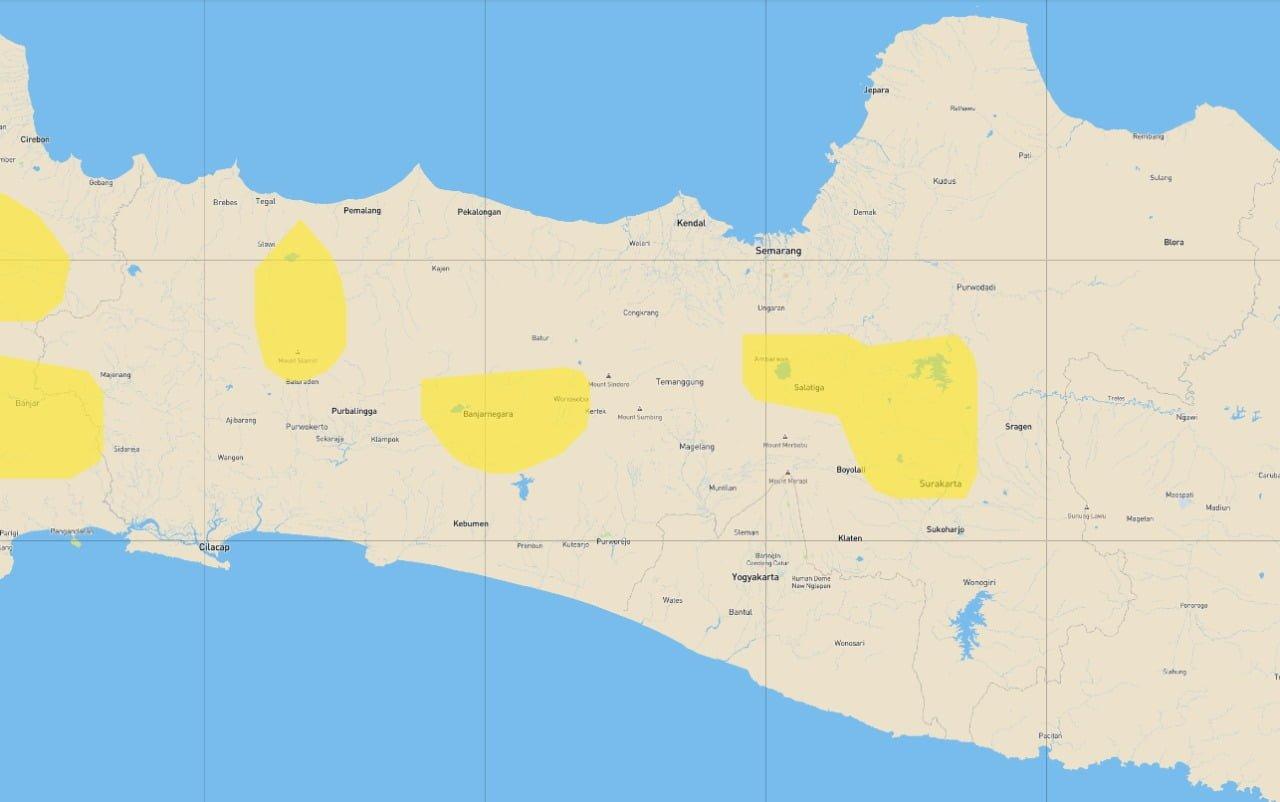 heavy rain area map