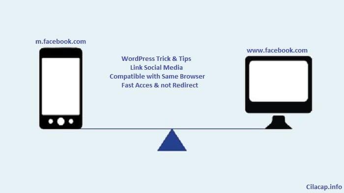illustration social media link access same browser