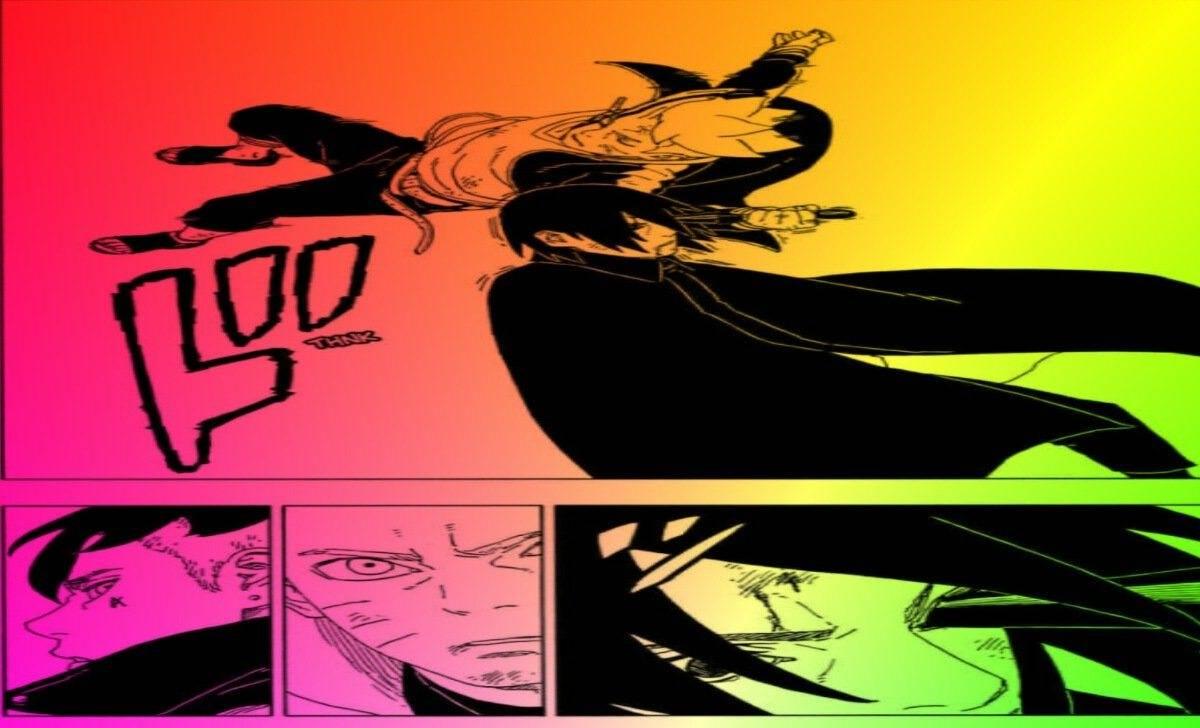 ilustrasi adegan boruto tusuk mata rinnegan sasuke pada chapter 53