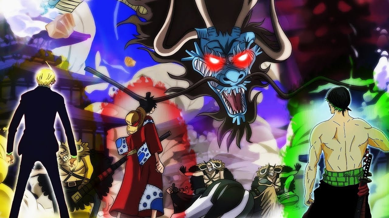 ilustrasi Luffy vs Kaido