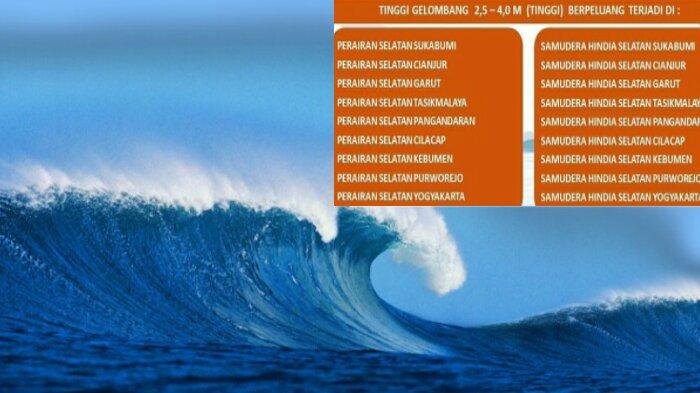 ilustrasi air laut tinggi dan peringatan bmkg