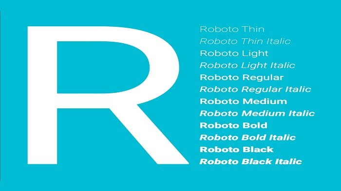 ilustrasi google fonts roboto