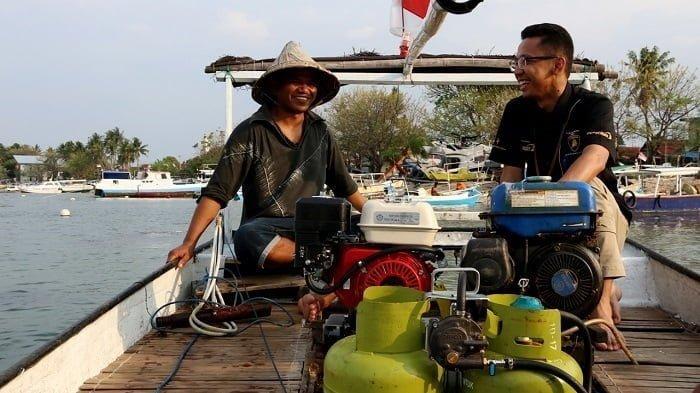 ilustrasi nelayan gunakan bbg